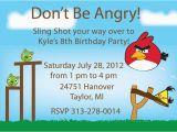 Angry Birds Birthday Party Invitations Angry Bird Birthday Invitation Quot Printable Quot Logan 39 S 5th