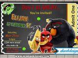 Angry Birds Birthday Party Invitations Custom Angry Birds Movie Birthday Invitations