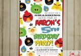 Angry Birds Birthday Party Invitations Items Similar to Angry Birds Birthday Invitation Diy