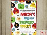 Angry Birds Birthday Party Invitations Items Similar to Angry Birds Birthday Invitation Diy