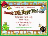 Angry Birds Birthday Party Invitations Video Game Birthday Invitations Ideas Bagvania Free