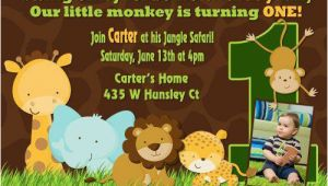 Animal 1st Birthday Invitations 17 Safari Birthday Invitations Design Templates Free