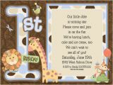 Animal 1st Birthday Invitations 1st Birthday Animals Blue Party Invitations by Paper so