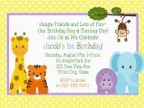 Animal 1st Birthday Invitations Jungle Animals 1st Birthday Invitation Printable Digital
