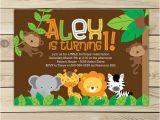 Animal 1st Birthday Invitations Safari Jungle Birthday Invitation Printable Jungle