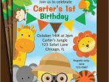 Animal Birthday Invites Animal Invitation Printable or Printed with Free Shipping