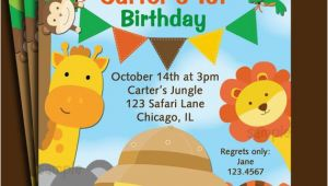 Animal Birthday Invites Animal Invitation Printable or Printed with Free Shipping
