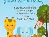 Animal Birthday Invites Items Similar to Jungle Animals Monkey Safari theme