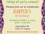 Animal Birthday Invites Make Your Own Stuffed Animals Birthday Party Decorations