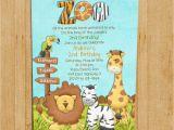 Animal Birthday Invites Zoo Birthday Invitation Jungle Animals Custom and
