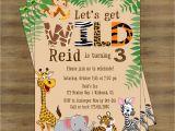 Animal Birthday Invites Zoo Birthday Invitation Safari Birthday Invitation