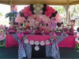 Animal Print Birthday Decorations Minnie Mouse and Zebra Print Birthday Party Ideas Photo