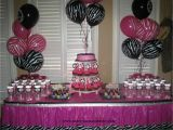 Animal Print Birthday Decorations Party Tales Birthday Party Zebra Print and Hot Pink
