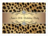 Animal Print Birthday Party Invitations Cheetah Print Birthday Party Invitation