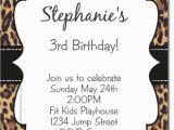 Animal Print Birthday Party Invitations Cheetah Print Invitation orderecigsjuice Info
