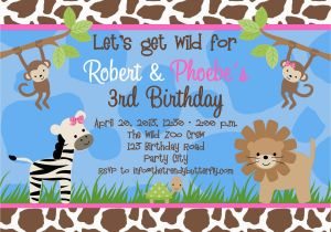 Animal Print Birthday Party Invitations Free Invitation Templates