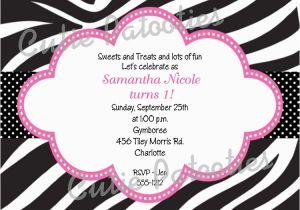 Animal Print Birthday Party Invitations Free Printable Zebra Drevio