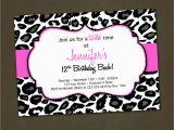 Animal Print Birthday Party Invitations Lighting
