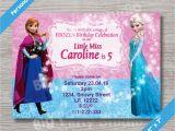 Anna and Elsa Birthday Invitations Disney Frozen Elsa Anna Personalized Happy Birthday