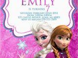 Anna and Elsa Birthday Invitations Disney Frozen Invitation Frozen Invitation Elsa and Anna