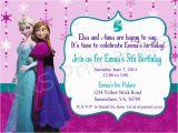 Anna and Elsa Birthday Invitations Elsa and Anna Frozen Birthday Party Invitation by