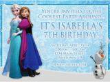 Anna and Elsa Birthday Invitations Elsa Frozen Birthday Party Invitation Ideas Bagvania