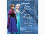 Anna and Elsa Birthday Invitations Frozen Anna and Elsa Snowflake Birthday Invitation 4 25 Quot X
