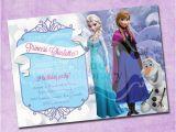 Anna and Elsa Birthday Invitations Frozen Elsa and Anna Birthday Invitation