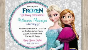 Anna and Elsa Birthday Invitations Items Similar to Frozen Birthday Invitation Elsa and