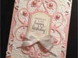Anna Griffin Birthday Card Kit Shabby Sweet Pink Birthday Card with Floral Anna Griffin