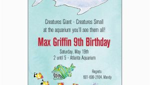 Aquarium Birthday Party Invitations Amazing Aquarium Birthday Invitations Paperstyle