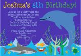 Aquarium Birthday Party Invitations Dolphin Aquarium Birthday Invitations