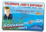 Aquarium Birthday Party Invitations Items Similar to Aquarium Birthday Party Invitation Under