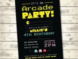Arcade Birthday Party Invitations Arcade Birthday Party Invitation Pacman by Carlisleconcepts