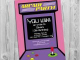 Arcade Birthday Party Invitations Arcade Party Invitation Digital Printable Invite for Girls