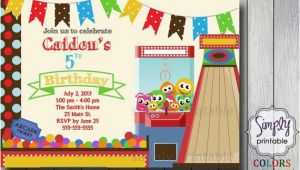 Arcade Birthday Party Invitations Birthday Party Invitation Arcade