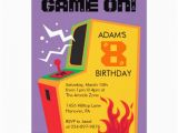 Arcade Birthday Party Invitations Personalized Arcade Game Invitations Custominvitations4u Com