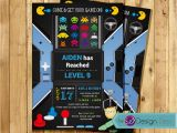 Arcade Birthday Party Invitations Video Game Birthday Party Invitation Arcade Game Birthday