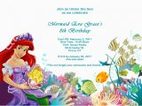 Ariel Birthday Invitations Printable 40th Birthday Ideas Free Little Mermaid Birthday