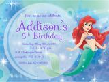 Ariel Birthday Invitations Printable 8 Best Images Of Free Printable Mermaid Invitation