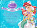 Ariel Birthday Invitations Printable Ariel Birthday Invitations Ideas Bagvania Free Printable