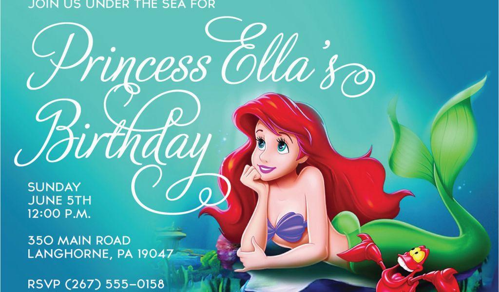 Download By SizeHandphone Tablet Desktop Original Size Back To Ariel Birthday Invitations Printable