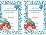 Ariel Birthday Invitations Printable Little Mermaid Birthday Invitations Birthday Printable