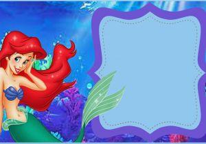 Ariel Birthday Invitations Printable Little Mermaid Free Invitation Templates