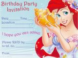 Ariel Birthday Invitations Printable Princess Coloring Pages