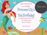 Ariel Birthday Invitations Printable the Little Mermaid Birthday Invitations Free Printable