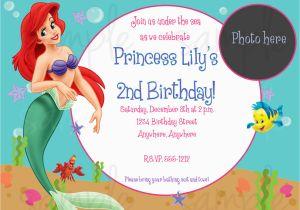 Ariel Birthday Invitations Printable The Little Mermaid Free