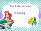 Ariel Birthday Invitations Printable Updated Free Printable Ariel the Little Mermaid