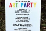 Art themed Birthday Party Invitations Art Birthday Party theme Printables Paint Party