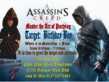 Assassin S Creed Birthday Invitations assassin 39 S Creed Custom Personalized Birthday Party